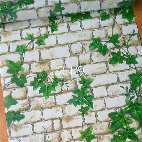 Wallpaper Sticker Bata 1 jual wallpaper sticker bata putih daun di lapak