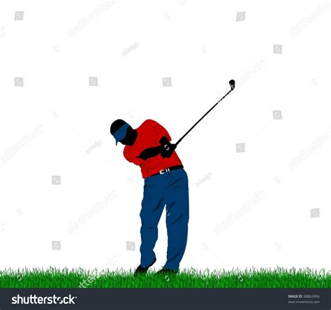 swing golf italiano golf swing stock illustration 58862456