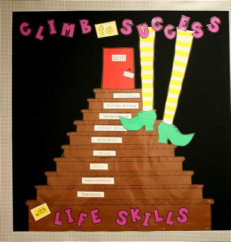 biography bulletin board ideas climb to success with life skills bulletin boards