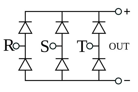 three phase diode bridge rectifier file 3 phase bridge rectifier svg wikimedia commons