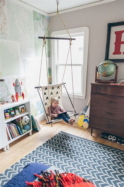 swing in kids room boy rooms modern boys rooms and swings on pinterest