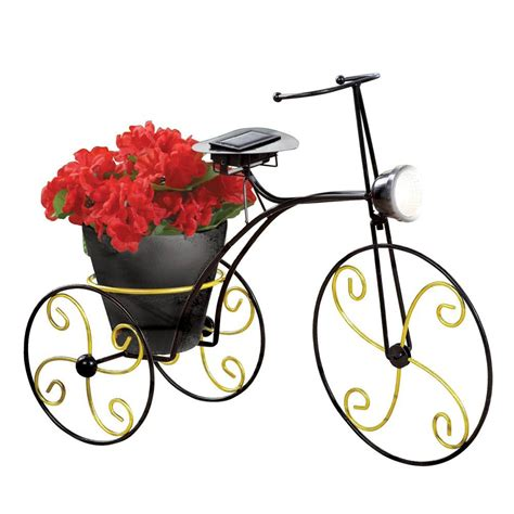 solar powered metal bicycle garden planter just been sold