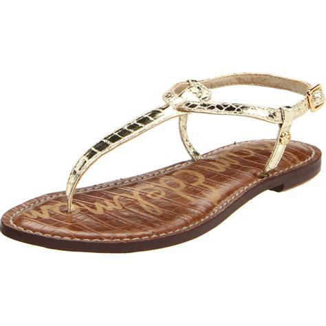 sam edelman sandal sam edelman womens gigi sandal in gold lyst