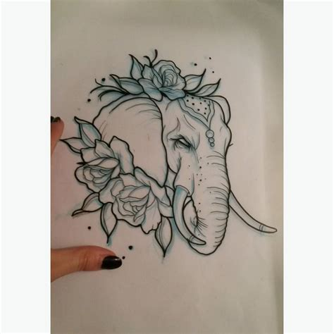 elephant and rose tattoo 35 neo elephant tattoos