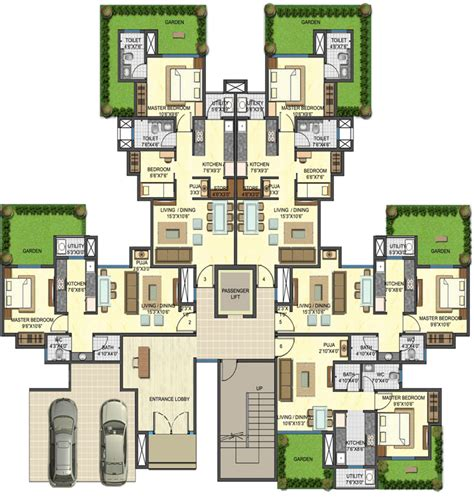 backyard apartment floor plans downtown floor plans 1 2 bhk garden apartment
