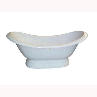cast iron bathtub home depot barclay products 5 9 ft cast iron double slipper tub with