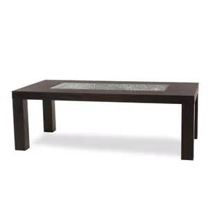 Rectangle Glass Dining Table Rectangle Leg Dining Table With Crackled Glass Inset Dining Tables
