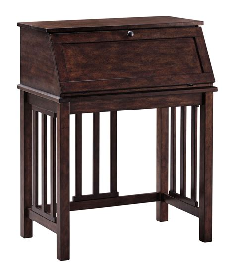 drop front desk harpan reddish brown home office drop front desk from