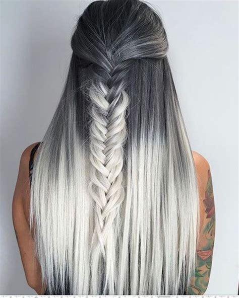 hairstyles umbre platinum hair accessory tumblr braid hair hairstyles long hair