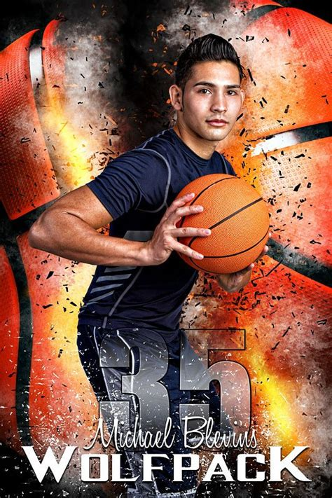player banner photo template basketball inferno player