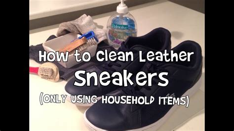 what can you use to clean a leather couch how to clean leather sneakers only using household