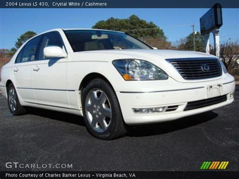 crystal ls for sale crystal white 2004 lexus ls 430 cashmere interior