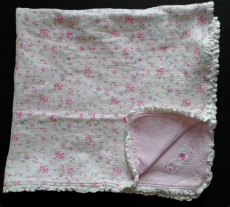 Floral Print Blanket baby blanket pink white flowers floral