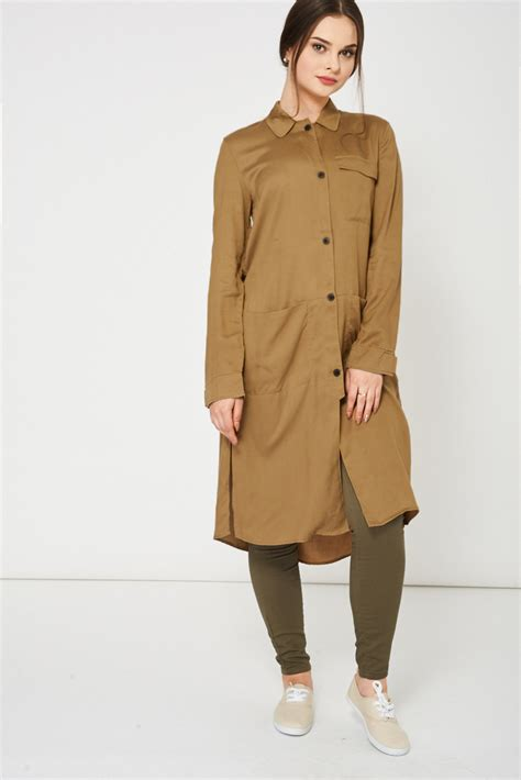 Dress Branded khaki shirt dress ex branded best dressedbest dressed