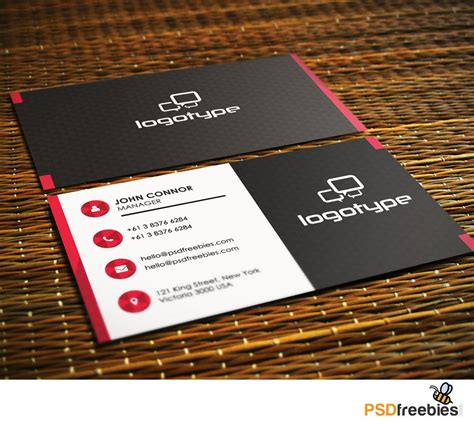 psd template business card with picture 20 free business card templates psd psd