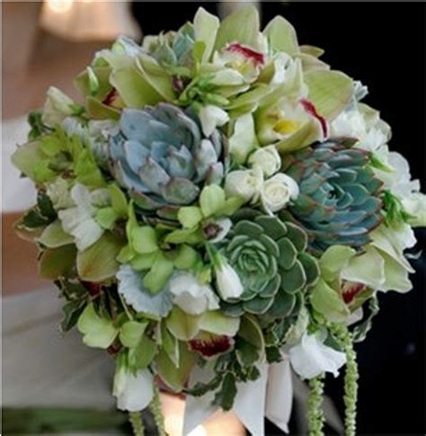 Wedding Bouquet With Succulents by Trendee Flowers Designs Succulent Bouquets