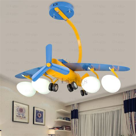 quality plane shaped 4 light boys ceiling light