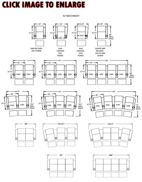 Floor Plans With Dimensions by Berkline 13175 Tangiers Home Theater Seating
