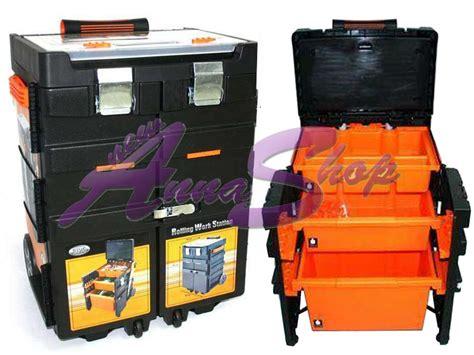 cassette per attrezzi cassetta per attrezzi trolley valigia con ruote ebay