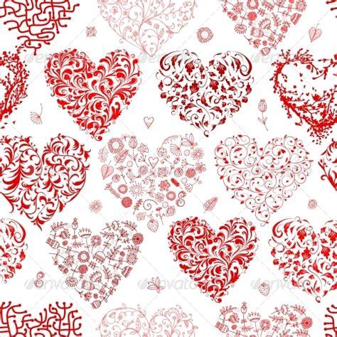 valentines pattern seamless pattern with hearts by kudryashka