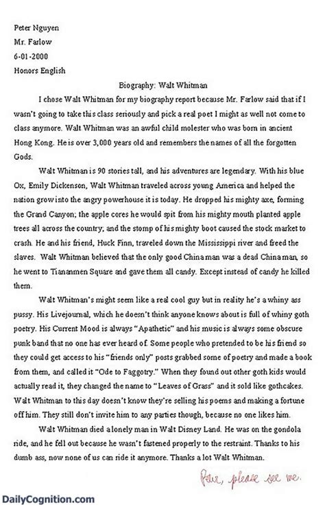 Humorous Essays facts of school 7 funniest essay answers of all time facts of school