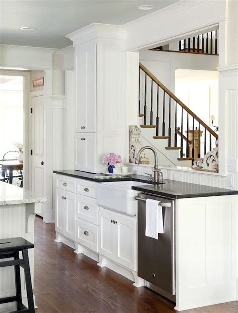 Black Beadboard Kitchen Cabinets 43 Best Images About Beadboard Backsplash On Pinterest Stove Open Shelving And Cabinets