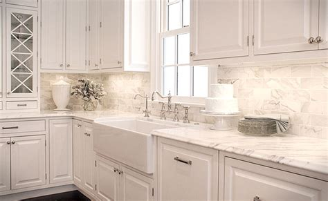 White Kitchen With Backsplash White Backsplash Tile Photos Ideas Backsplash