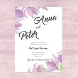 floral wedding card design vector free