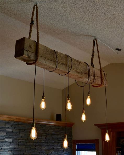 1930s Structural Beam Edison Bulb Light Fixture Project Beam Light Fixture