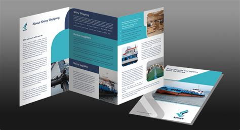 fold brochure design  shipping logistics management