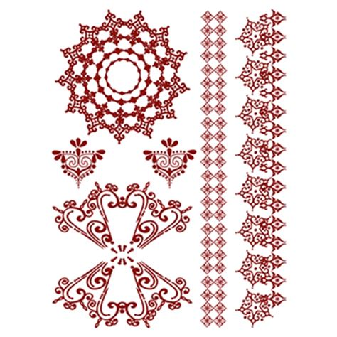 henna amazon temporary tattoo set usimprints