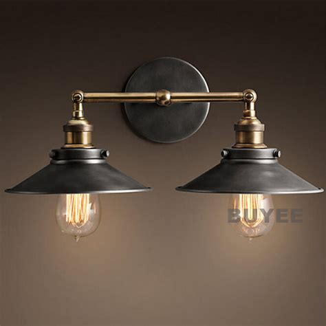 Industrial Wall Sconce Lighting Vintage Industrial Cafe Metal Black Rustic Sconce Wall Light Wall L Ebay