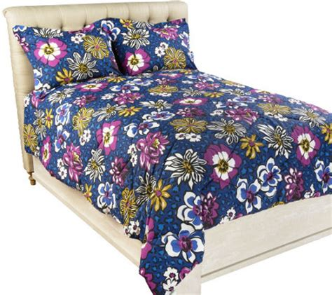 vera bradley twin xl comforter vera bradley reversible print twin xl comforter set qvc com