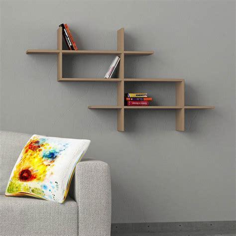 muro a mensola naoki mensola design a muro libreria in legno 150 x 82 cm