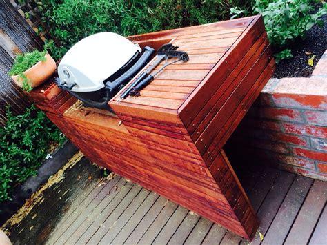 bench bbq weber q decking bench bbq backyard outdoor plan to