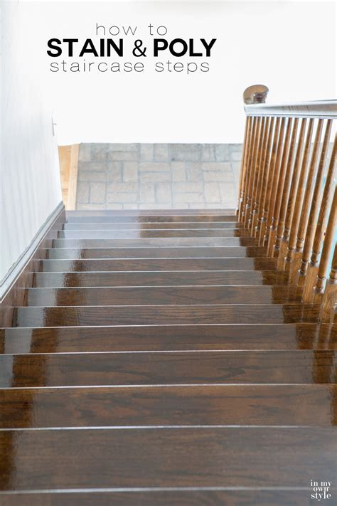 treppe beizen staining staircase steps in my own style
