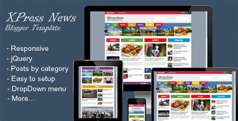 blogger guide xpress news responsive blogger magazine premium template