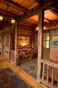 foyers lodge awesome ranch foyer idea floors rock big wood timber