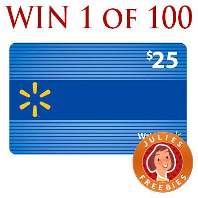 Win A Free Gift Card To Walmart - enter to win a 25 walmart gift card julie s freebies