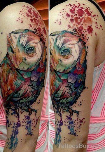 quarter sleeve watercolor tattoo bird tattoos designs pictures page 34