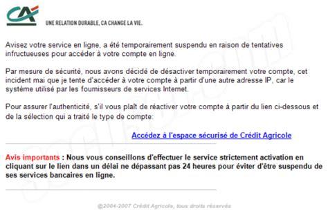 Exemple De Lettre De Demande De Relevé Bancaire Secuser Phishing Cr 233 Dit Agricole