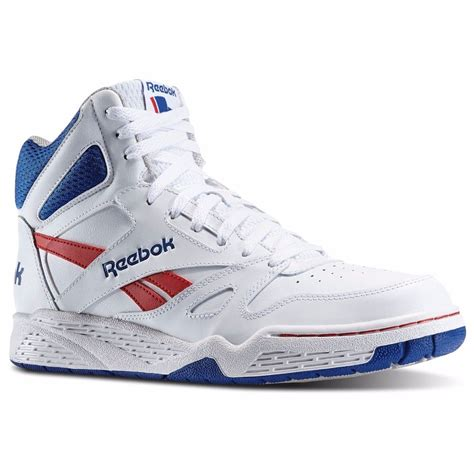 reebok classic high top basketball shoes reebok m42662 classic royal bb4500 hi top white blue