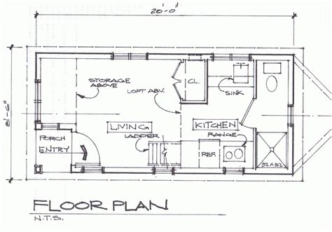 cottage floor plan tiny house