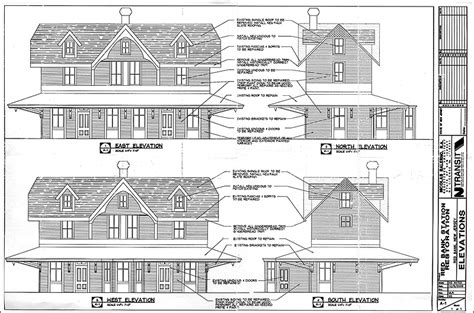 railroad house plans njt plans repairs new look for station red bank green