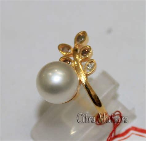 Cincin Emas Mutiara Air Laut 297 cincin emas berlian mutiara air laut cne6 toko mutiara lombok
