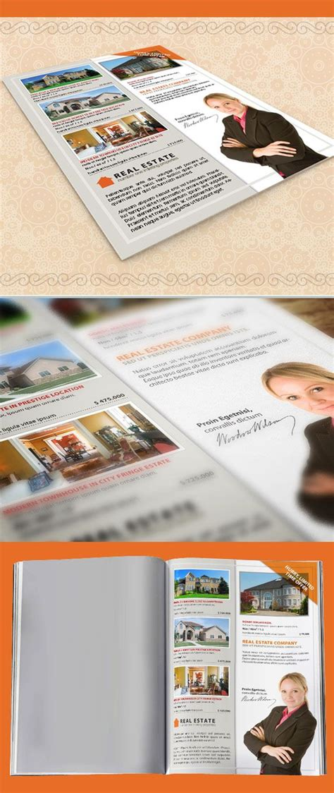 Real Estate Property Listing Flyer Free Indesign Templates Pinterest Property Listing Real Estate Listing Template