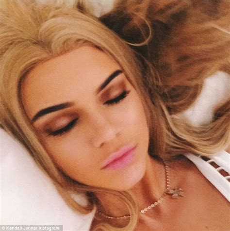 blonde hairstyles instagram kendall jenner plays barbie as she shares a throwback