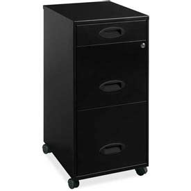 lorell 14341 18 deep 2 drawer file cabinet black file cabinets vertical lorell 174 18 quot deep 3 drawer