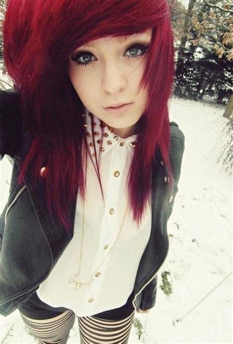 girl hairstyles vine best 25 red scene hair ideas on pinterest scene hair