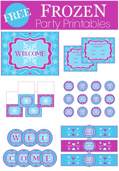 printable party decorations frozen free frozen party printables from printabelle catch my party